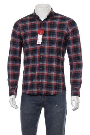Мъжка риза S.Oliver, Размер S, Цвят Многоцветен, 98% памук, 2% еластан, Цена 29,67лв.