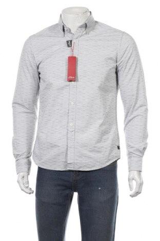 Мъжка риза S.Oliver, Размер S, Цвят Син, Памук, Цена 23,22лв.