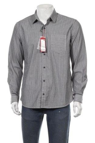 Мъжка риза S.Oliver, Размер L, Цвят Сив, 96% памук, 4% еластан, Цена 29,67лв.