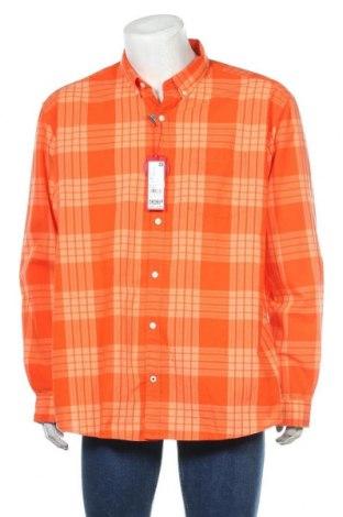 Мъжка риза S.Oliver, Размер XXL, Цвят Оранжев, Памук, Цена 29,67лв.