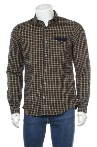 Мъжка риза S.Oliver, Размер M, Цвят Син, Памук, Цена 27,52лв.