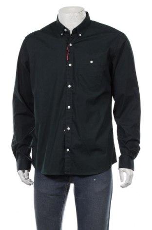 Мъжка риза S.Oliver, Размер L, Цвят Зелен, 97% памук, 3% еластан, Цена 48,00лв.