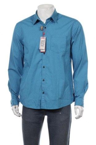 Мъжка риза S.Oliver, Размер L, Цвят Син, 97% памук, 3% еластан, Цена 29,67лв.