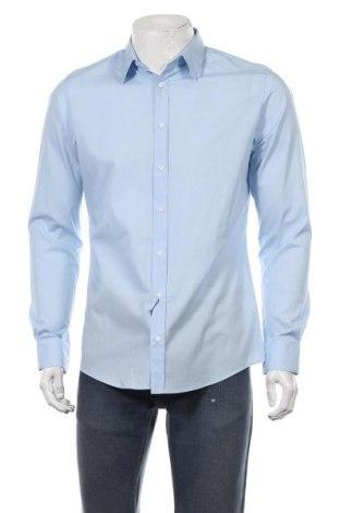 Мъжка риза S.Oliver, Размер M, Цвят Син, 96% памук, 4% еластан, Цена 29,67лв.