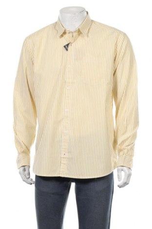 Мъжка риза S.Oliver, Размер XL, Цвят Жълт, 98% памук, 2% еластан, Цена 29,67лв.