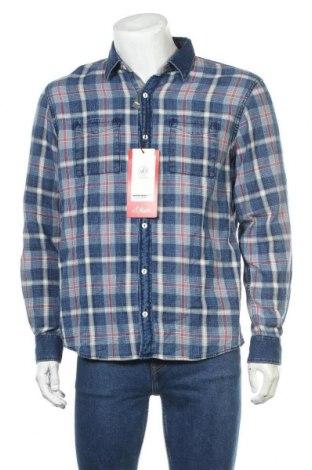 Мъжка риза S.Oliver, Размер L, Цвят Син, Памук, Цена 29,67лв.