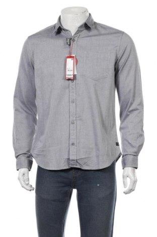 Мъжка риза S.Oliver, Размер M, Цвят Син, 98% памук, 2% еластан, Цена 23,22лв.