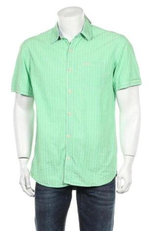 Ανδρικό πουκάμισο S.Oliver, Μέγεθος L, Χρώμα Πράσινο, Βαμβάκι, Τιμή 9,74€