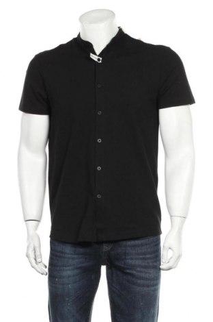 Ανδρικό πουκάμισο Tom Tailor, Μέγεθος M, Χρώμα Μαύρο, 95% βαμβάκι, 5% ελαστάνη, Τιμή 12,45€