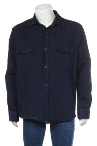 Мъжка риза Zara, Размер XL, Цвят Син, 66% памук, 32% полиестер, 2% еластан, Цена 27,56лв.