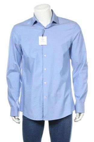 Мъжка риза Zara, Размер L, Цвят Син, 90% памук, 10% еластан, Цена 39,00лв.