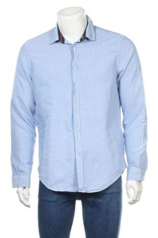 Мъжка риза Zara, Размер XL, Цвят Син, Памук, Цена 36,00лв.