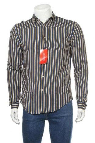 Мъжка риза Zara, Размер S, Цвят Син, Вискоза, Цена 39,00лв.