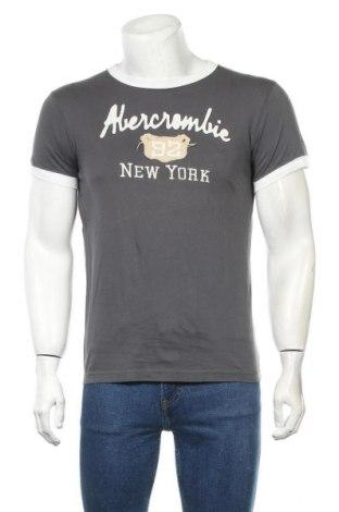Мъжка тениска Abercrombie & Fitch, Размер M, Цвят Сив, Памук, Цена 31,50лв.