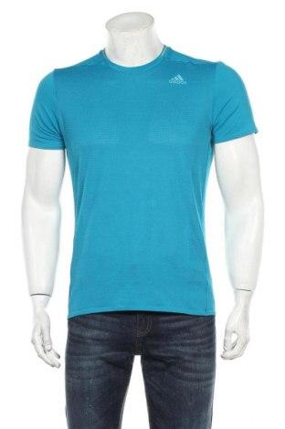 Мъжка тениска Adidas, Размер S, Цвят Син, Полиестер, Цена 21,00лв.