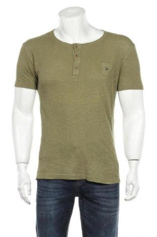 Мъжка тениска Diesel, Размер L, Цвят Зелен, Памук, Цена 33,00лв.