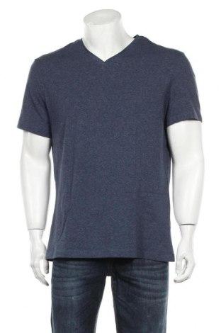 Мъжка тениска H&M, Размер XL, Цвят Син, 95% памук, 5% еластан, Цена 22,40лв.
