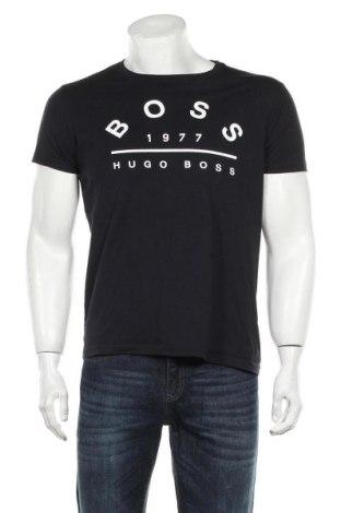 Мъжка тениска Hugo Boss, Размер L, Цвят Черен, Памук, Цена 46,50лв.
