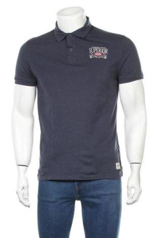 Мъжка тениска Jack & Jones, Размер M, Цвят Син, Памук, Цена 20,25лв.