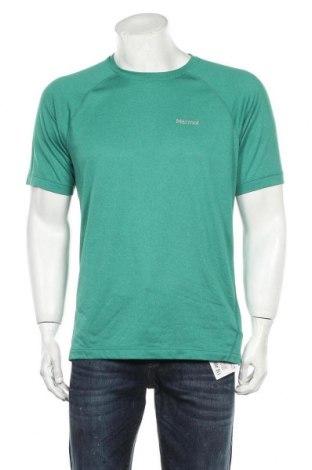 Мъжка тениска Marmot, Размер M, Цвят Зелен, Полиестер, Цена 31,50лв.
