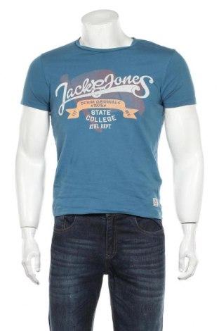 Мъжка тениска Originals By Jack & Jones, Размер S, Цвят Син, Памук, Цена 20,25лв.