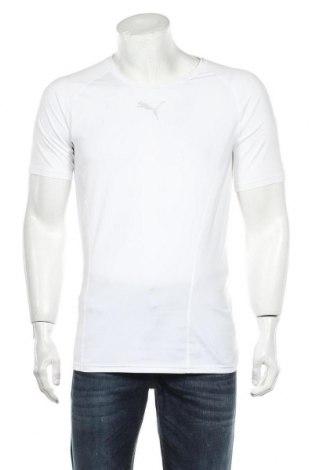 Мъжка тениска PUMA, Размер XL, Цвят Бял, 89% полиестер, 11% еластан, Цена 30,75лв.