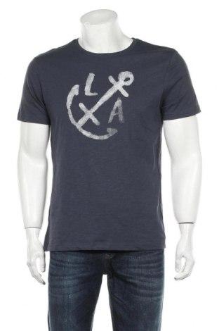 Tricou de bărbați Reserved, Mărime M, Culoare Albastru, Bumbac, Preț 59,21 Lei