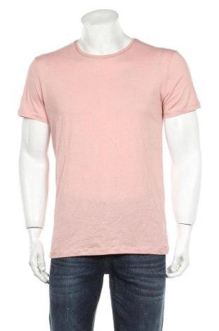 Мъжка тениска Zara, Размер S, Цвят Розов, Памук, Цена 13,65лв.