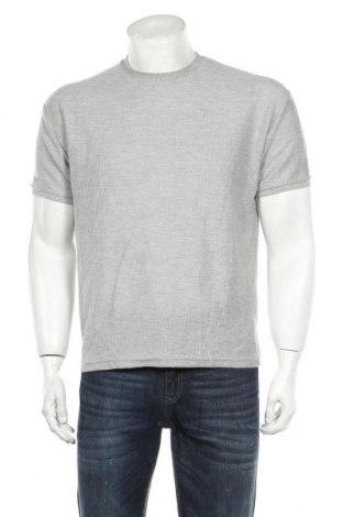 Мъжка тениска Zara, Размер S, Цвят Сив, 50% памук, 50% полиестер, Цена 21,75лв.