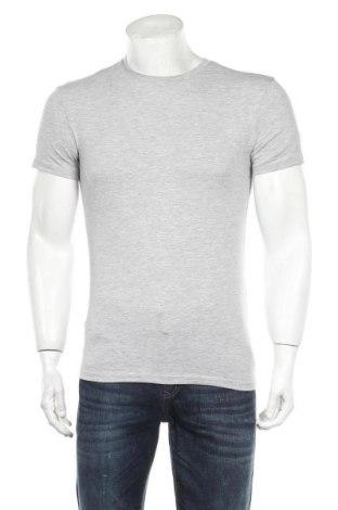 Мъжка тениска Zara, Размер S, Цвят Сив, 54% памук, 41% полиестер, 4% еластан, Цена 29,25лв.