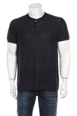 Мъжка тениска Zara Man, Размер XL, Цвят Син, Цена 13,06лв.