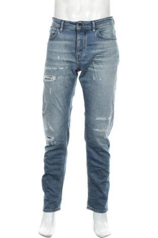 Мъжки дънки Hugo Boss, Размер L, Цвят Син, 90% памук, 8% полиестер, 2% еластан, Цена 145,77лв.