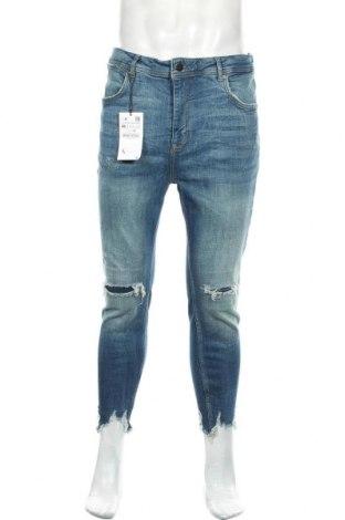 Ανδρικό τζίν Zara, Μέγεθος L, Χρώμα Μπλέ, 95% βαμβάκι, 3% πολυεστέρας, 2% ελαστάνη, Τιμή 26,68€