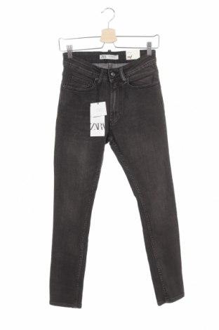 Мъжки дънки Zara, Размер XS, Цвят Сив, 98% памук, 2% еластан, Цена 51,75лв.