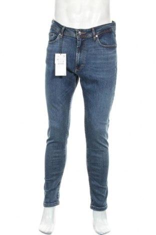 Мъжки дънки Zara, Размер L, Цвят Син, 98% памук, 2% еластан, Цена 36,75лв.