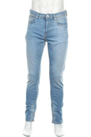 Мъжки дънки Zara, Размер M, Цвят Син, 91% памук, 7% полиестер, 2% еластан, Цена 44,25лв.