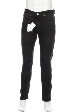 Мъжки дънки Zara, Размер M, Цвят Черен, 99% памук, 1% еластан, Цена 51,75лв.
