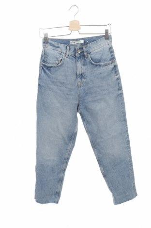 Мъжки дънки Zara, Размер XS, Цвят Син, Памук, Цена 44,25лв.