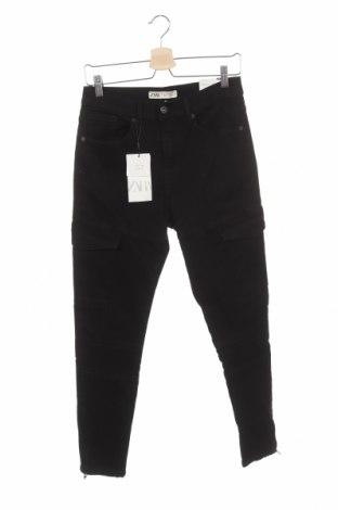 Мъжки дънки Zara, Размер XS, Цвят Черен, 98% памук, 2% еластан, Цена 44,25лв.