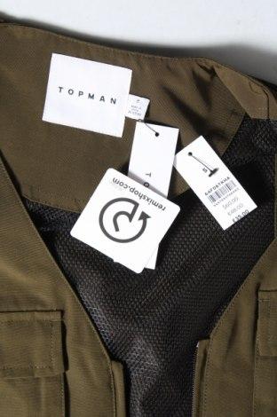 Мъжки елек Topman, Размер S, Цвят Зелен, Полиестер, Цена 23,42лв.