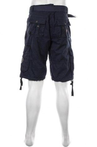 Мъжки къс панталон Geographical Norway, Размер XL, Цвят Син, 100% памук, Цена 33,44лв.