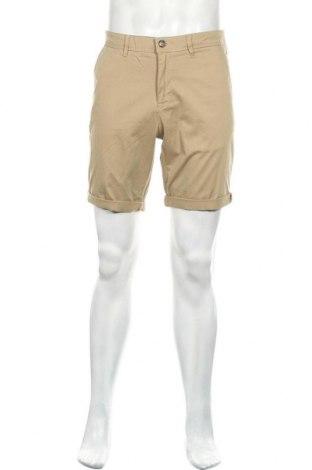 Мъжки къс панталон Jack & Jones, Размер M, Цвят Бежов, 98% памук, 2% еластан, Цена 36,75лв.
