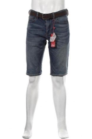 Pánské kraťasy S.Oliver, Velikost M, Barva Modrá, 89% bavlna, 10% polyester, 1% elastan, Cena  515,00Kč