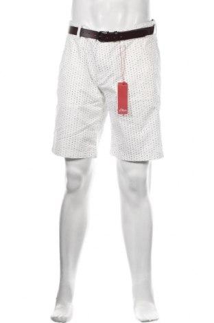 Pánské kraťasy S.Oliver, Velikost L, Barva Bílá, 97% bavlna, 3% elastan, Cena  450,00Kč
