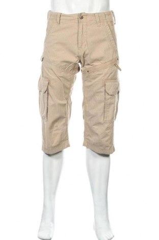 Ανδρικό κοντό παντελόνι S.Oliver, Μέγεθος M, Χρώμα  Μπέζ, Βαμβάκι, Τιμή 12,53€