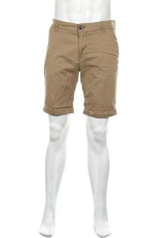 Мъжки къс панталон Selected Homme, Размер L, Цвят Кафяв, 98% памук, 2% еластан, Цена 14,30лв.