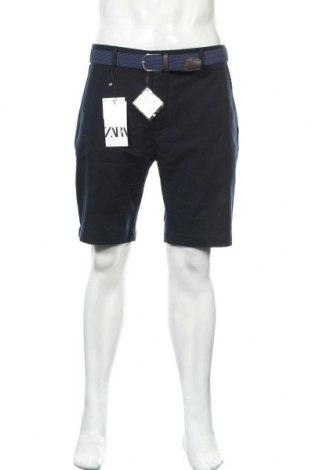 Pánské kraťasy Zara, Velikost L, Barva Modrá, 98% bavlna, 2% elastan, Cena  391,00Kč