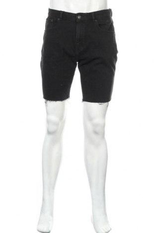 Мъжки къс панталон Zara, Размер L, Цвят Черен, 84% памук, 12% полиестер, 4% еластан, Цена 29,40лв.