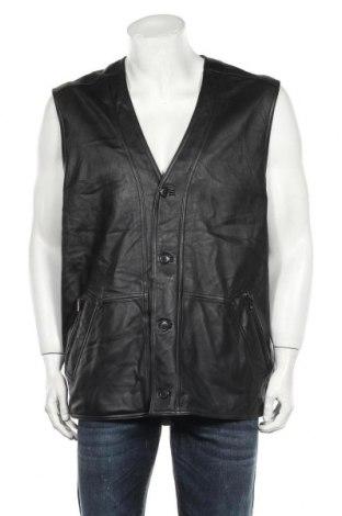 Ανδρικό δερμάτινο γιλέκο Henry Morell, Μέγεθος XL, Χρώμα Μαύρο, Γνήσιο δέρμα, Τιμή 9,78€