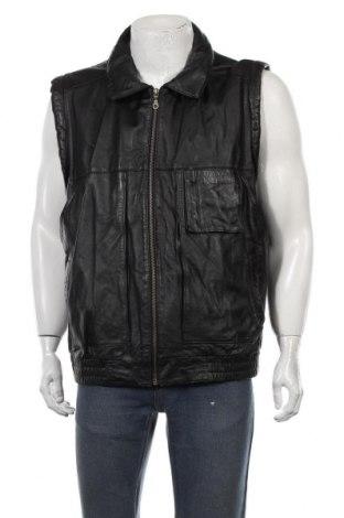 Мъжки кожен елек Prince, Размер XL, Цвят Черен, Естествена кожа, Цена 17,44лв.